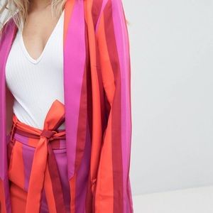 Bold stripe blazer - Missguided